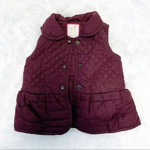 Gymboree girl quilted puffer vest